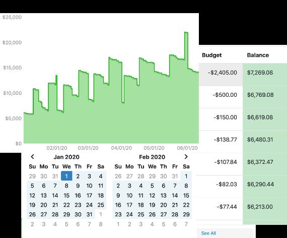 Cashflow Forecast Screenshot Clips